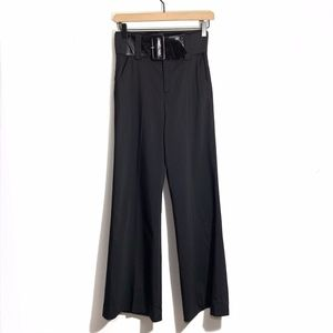 Alice and Olivia Wide Leg Wool Blend Trousers Sz 0